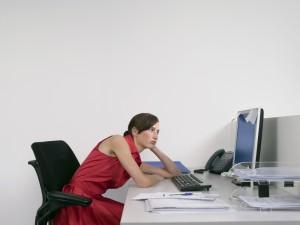Woman Slouching